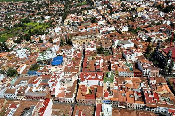 Vista áerea del casco histórico de La Laguna. / DA