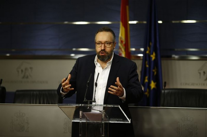 Portavoz de Ciudadanos en el Congreso de los Diputados, Juan Carlos Girauta. / EP