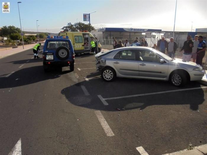 La colisión en la carretera general Santa Cruz-La Laguna. / ><figcaption class=