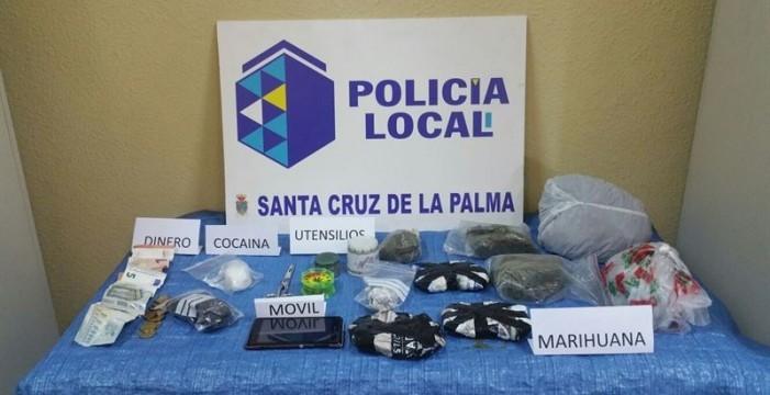 Detienen a un joven en Santa Cruz de La Palma por la posesión de cocaína y marihuana