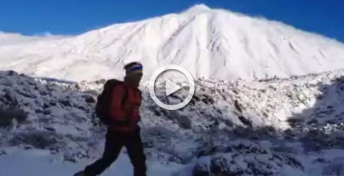 Deporte sobre nieve en el Teide