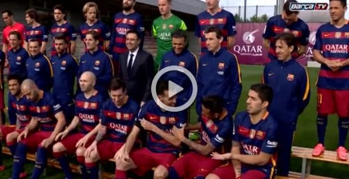 El Barça se hace la foto oficial