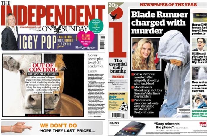 El diario británico The Independent cierra su edición en papel. / THE INDEPENDENT