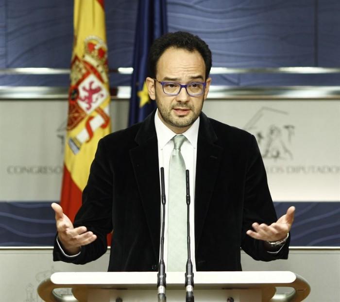 Portavoz del PSOE en el Congreso, Antonio Hernando. / EP