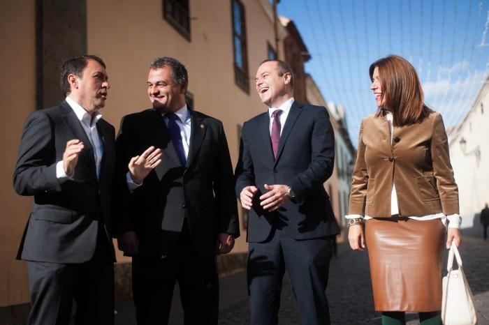 Los alcaldes del G4 se reunieron en La Laguna el pasado mes de diciembre. / F. P.