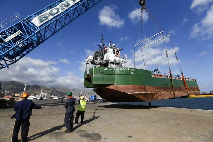 El trabajo consistió en la varada del buque Atlantshipservice 2. | A. G.