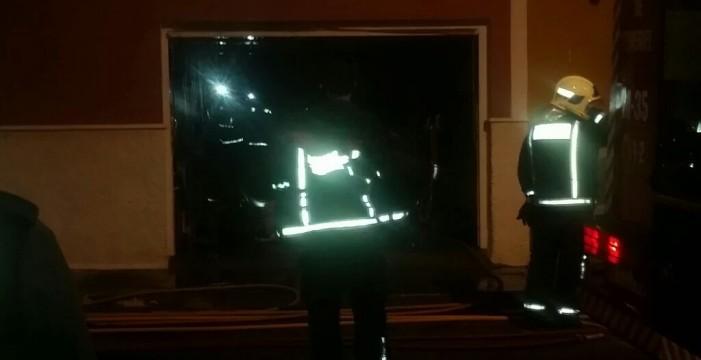 Herida leve por un incendio en Los Silos