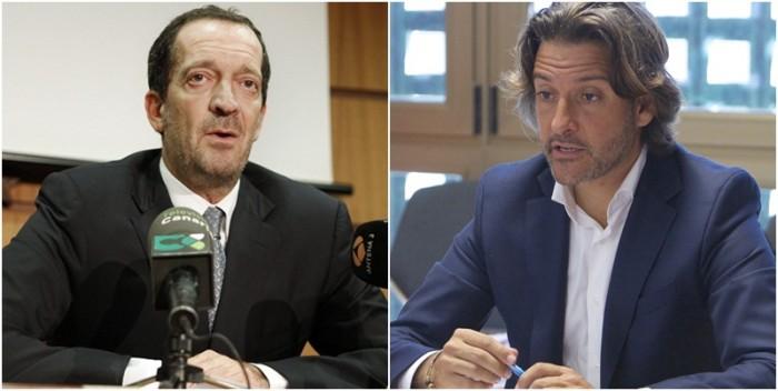 El decano Víctor Medina y el diputado Gustavo Matos. / DA