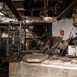 Aspecto que presenta en la actualidad el interior del local, tal y como quedó tras el incendio ocurrido hace casi dos años.   ANDRÉS GUTIÉRREZ