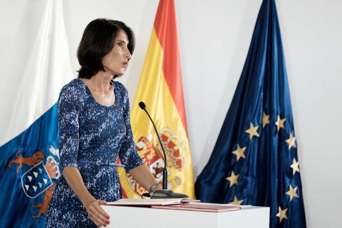María Teresa Lorenzo, consejera de Turismo, Cultura y Deportes del Gobierno canario. / DA