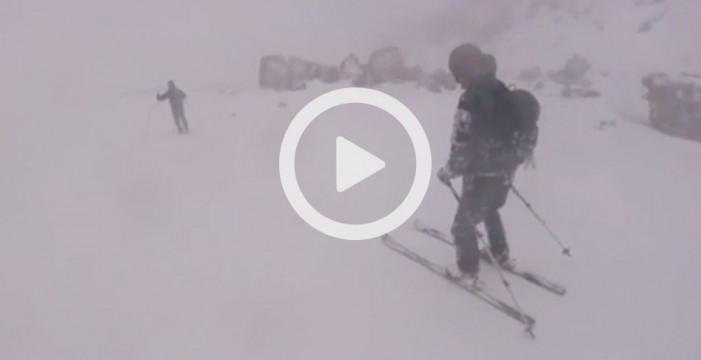Esquiando en el Teide
