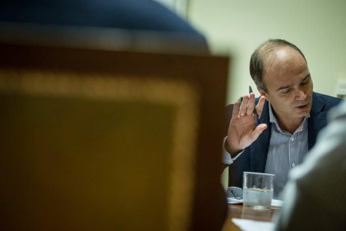 José Alberto Díaz-Estébanez es el concejal de Infraestructuras de Santa Cruz. / A. G.