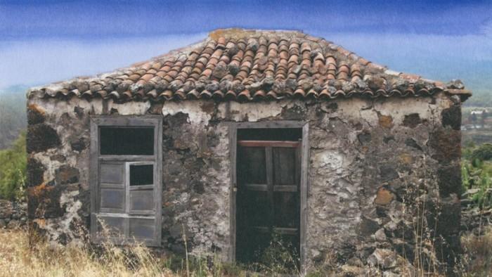 Antigua vivienda terrera tradicional canaria que ilustra la recogida de firmas en Change.org. / DA