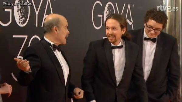 Pablo Iglesias a su llegada a la alfombra roja de los Goya. / DA