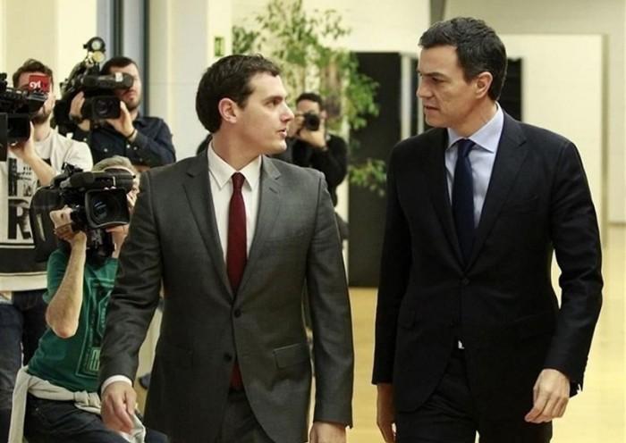 Albert Rivera y Pedro Sánchez. / EP
