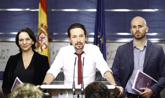 Pablo Iglesias presenta su nueva propuesta de gobierno. / EUROPA PRESS
