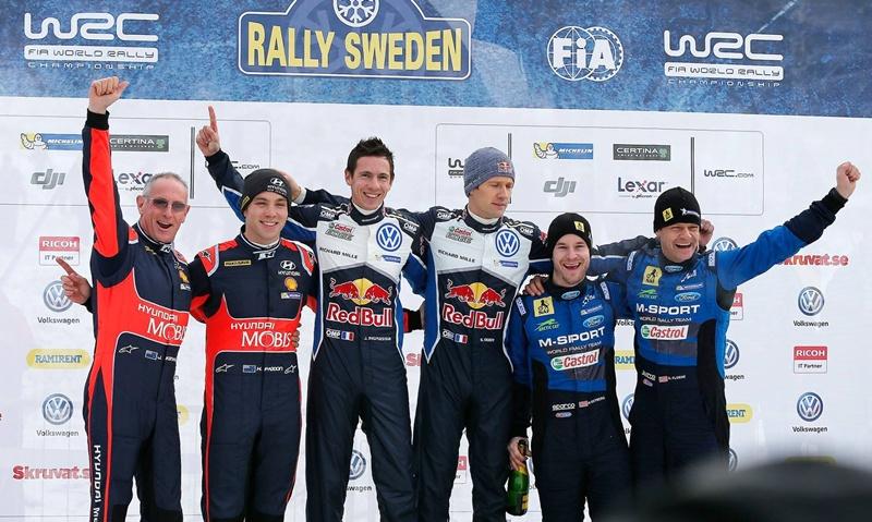 podio Rally de Suecia