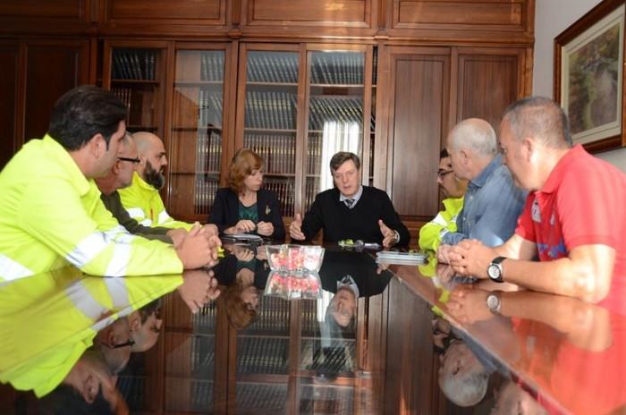 Reunión con trabajadores de Villar. / CEDIDA