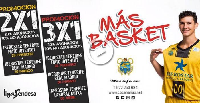 El CB Canarias lanza promociones para los próximos duelos