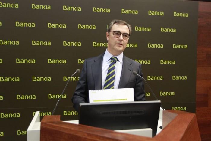 El consejero delegado de Bankia, José Sevilla, ayer en Madrid. / EUROPA PRESS