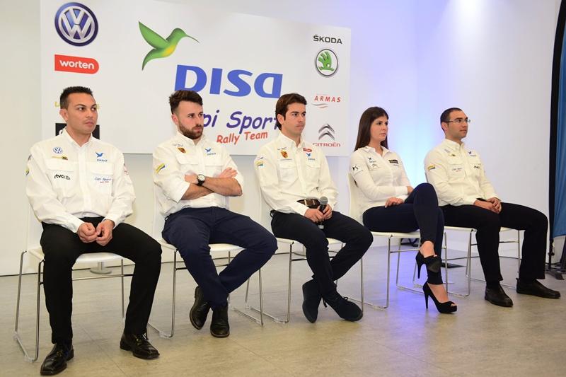 Yeray Mujica, Ariday Bonilla, Enrique Cruz, Emma Falcón y Antonio Acosta
