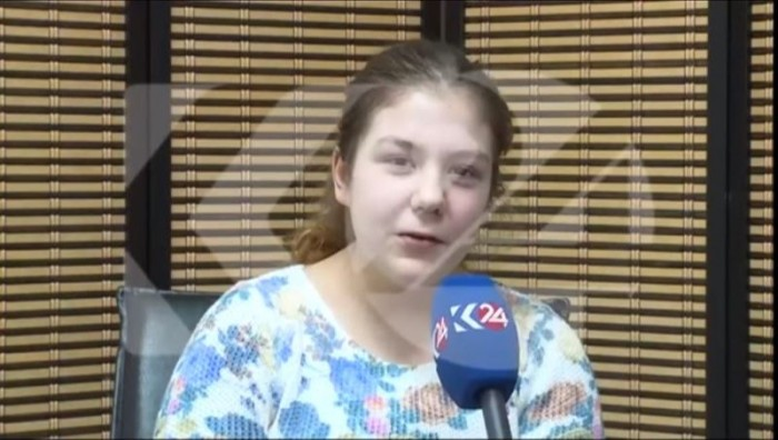 Adolescente sueca liberada de manos del Estado Islámico en Irak. /  KURDISTÁN 24