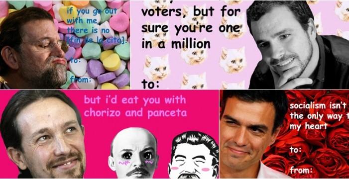 Las tarjetas de San Valentín de políticos españoles