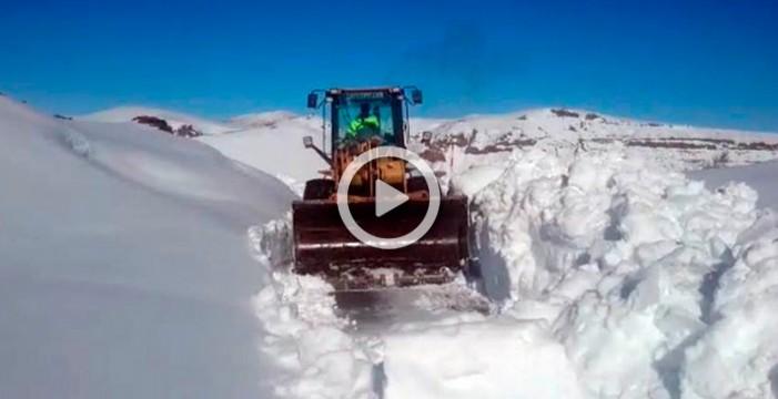 La nevada caída en El Teide, la tercera más importante en 15 años