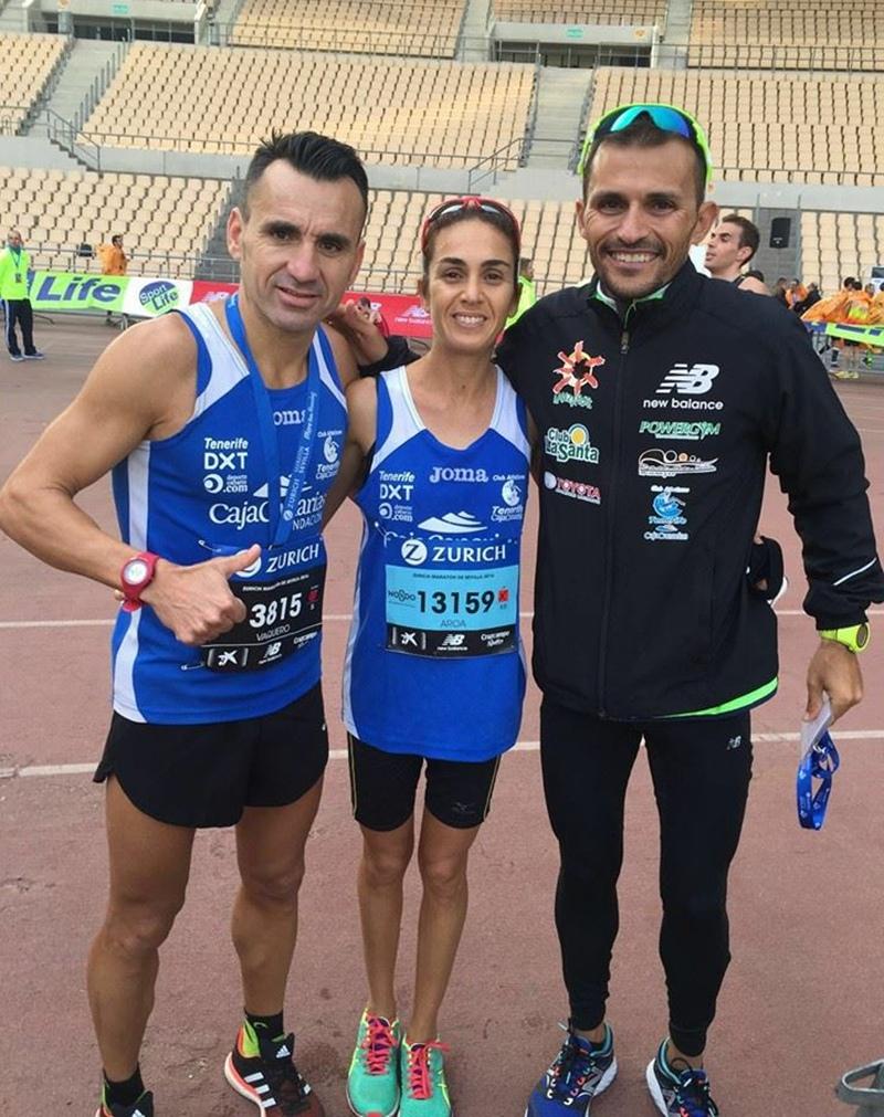 Miguel Ángel Vaquero, Aaroa Merino y José Carlos Hernández