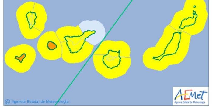 Hoy nubes y lluvia al norte, menor temperatura y viento con rachas fuertes