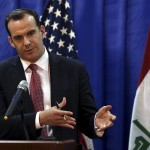Brett McGurk, enviado del Presidente Barack Obama's para la coalición de lucha contra el Estado Islámico en Baghdad