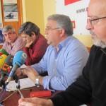 Comparecencia de dirigentes de Comisiones Obreras en la Casa Sindical de Santa Cruz de Tenerife. / DA