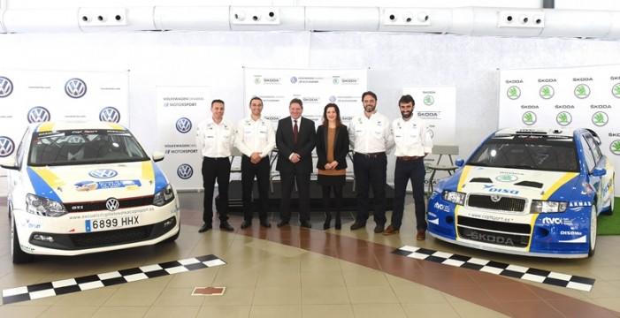 Domingo Alonso presenta junto a Copi Sport su proyecto para el Campeonato de Canarias de Rallys con Volkswagen y Škoda