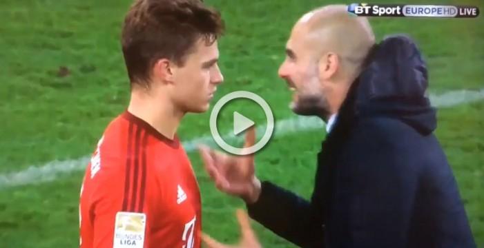 "Guardiola le echa un rapapolvo a Kimmich, su ""hijo"" del Bayern"