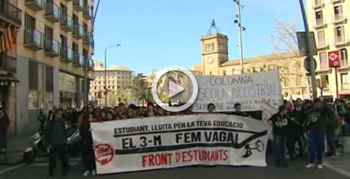 Miles de estudiantes protestan en varias ciudades españolas contra la Lomce y el