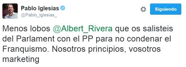 Albert Rivera, Pablo Iglesias y el