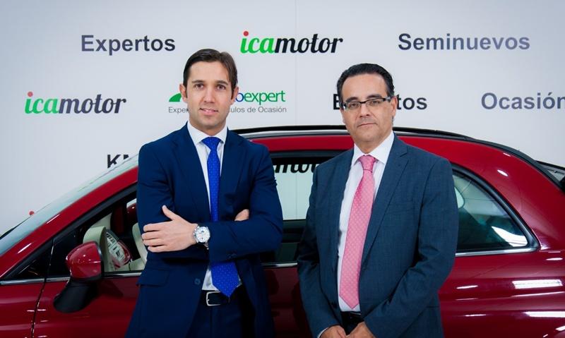 Juan Carlos Fernández, gerente de Icamotor. y Daniel Bravo Daniel Bravo, Responsabe de Zona de Autoexpert. | DA