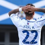 Nano lamenta una de las ocasiones desperdiciadas ayer por los jugadores blanquiazules. | SERGIO MÉNDEZ
