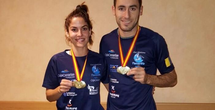 Simón Siverio y Yanira Soto, campeones de España en pista cubierta