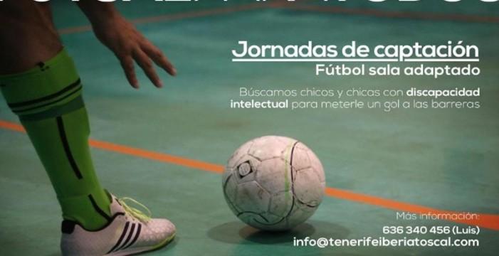 Cajasiete con el deporte adaptado junto al Tenerife Iberia Toscal