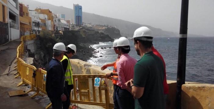 La próxima semana se termina la obra de emergencia de  la calle Tegueste