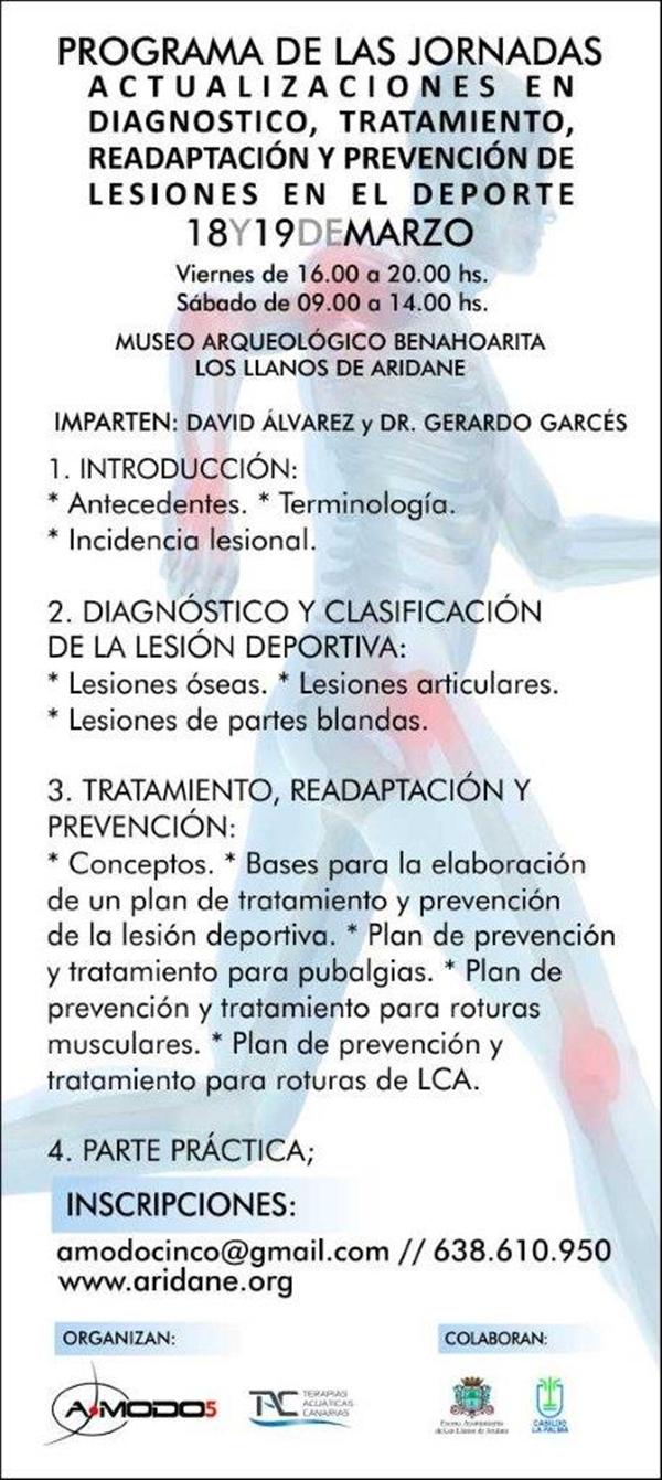 curso lesiones deportivas La Palma