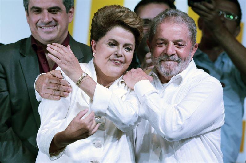 Dilma Rousseff y Luiz Inazio Lula da Silva