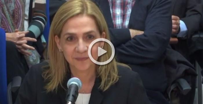 Comienza el interrogatorio de la Infanta Cristina como acusada en el caso Nóos