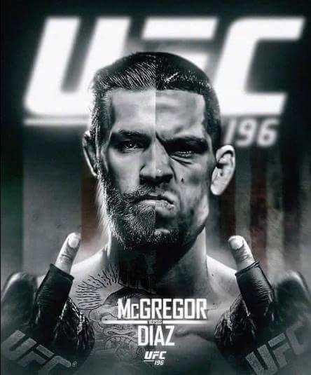 Cartel de promoción del combate de este sábado entre Connor McGregor y Nate Díaz. / DA