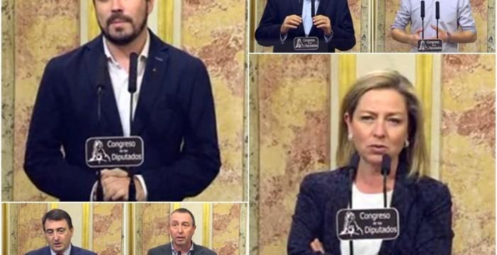Reacciones de los grupos parlamentarios al debate de investidura de Pedro Sánchez
