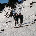 Rescatadas con hipotermia dos senderistas rusas en el Teide