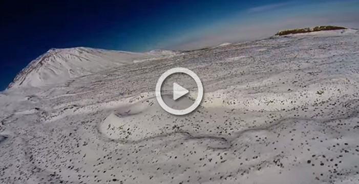 El Teide nevado como nunca lo habías visto